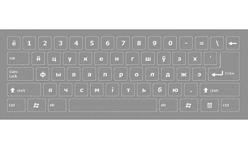 Byelorussian Keyboard Layout