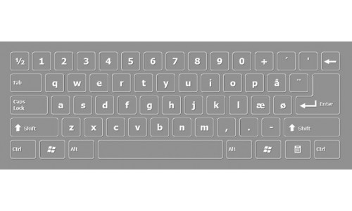 Dansk skærmtastaturet Danish Screen Keyboard