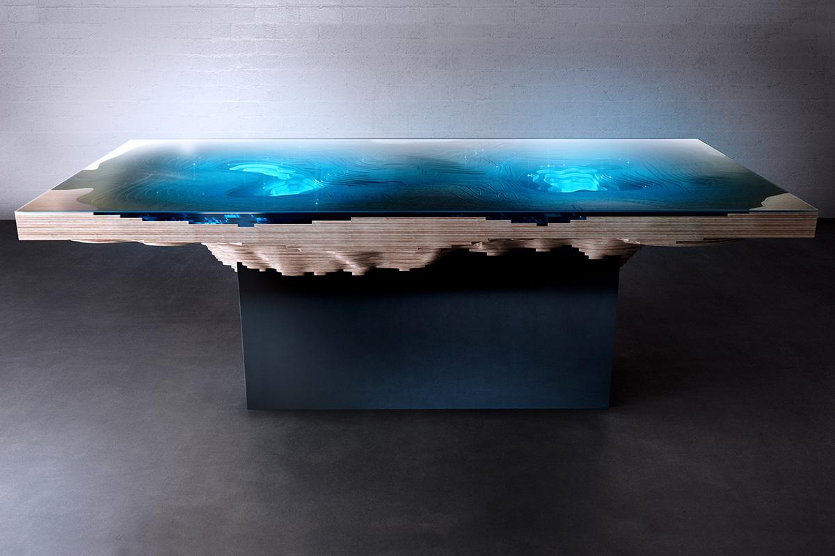 1 бездной обеденный стол Даффи лондон Abyss Обеденный стол на Duffy London: Кусочек моря и суши