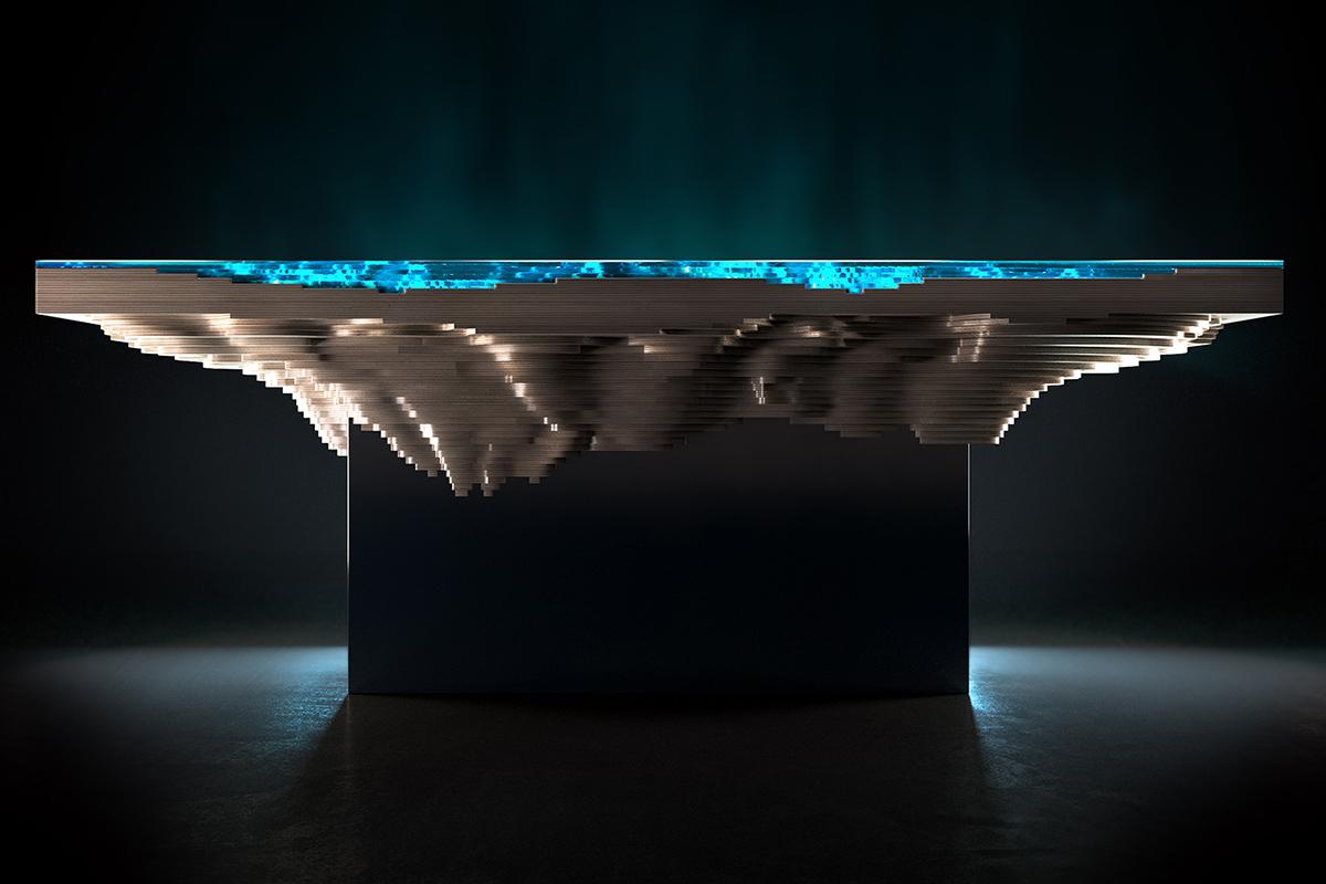 2 бездной обеденный стол Даффи лондон Abyss Обеденный стол на Duffy London: Кусочек моря и суши