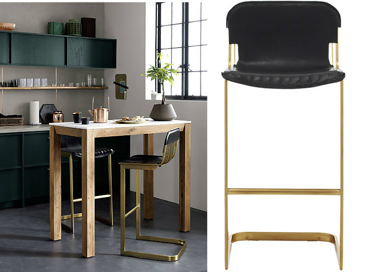 Rake Brass Bar Stool