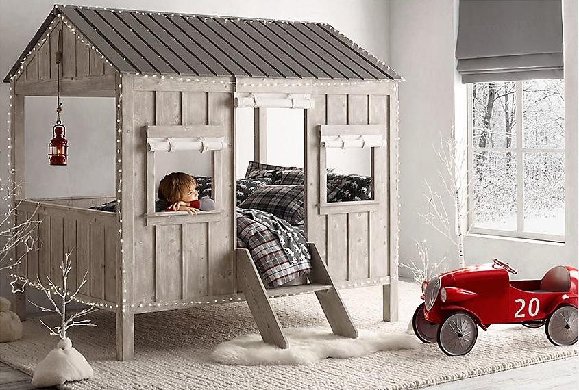 кабина кровать ребенок размер крытое жилье по реставрации аппаратных 1 Детской кровати Каюты на Restoration Hardware