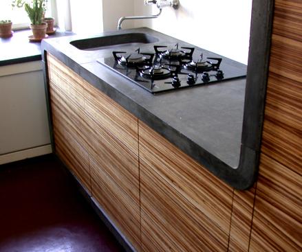 Столешница на кухню из бетона видео