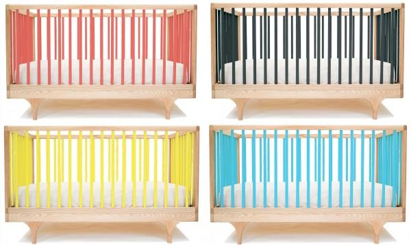 Детские кроватки разных расцветок