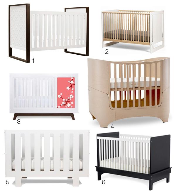 Коллекция разных моделей детских кроваток