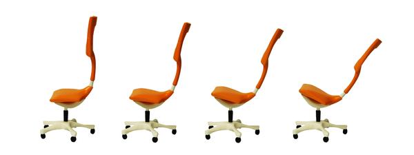 hi-tech компьютерное кресло. Эргономичная спинка и сиденье регулируется в большом диапазоне.