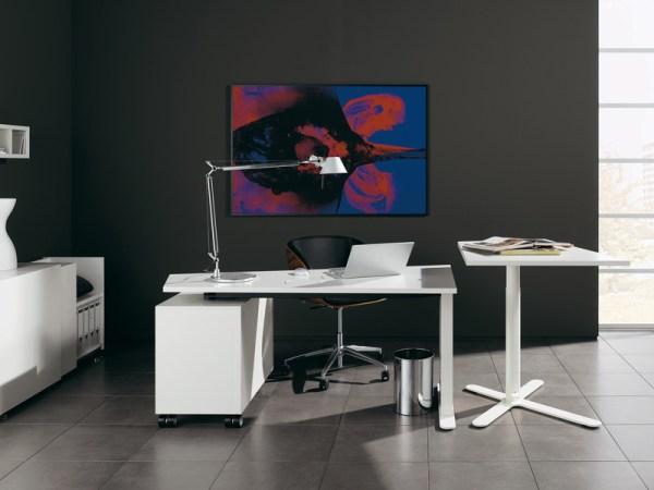 Интерьер домашнего офиса. Постер широкоформатная печать