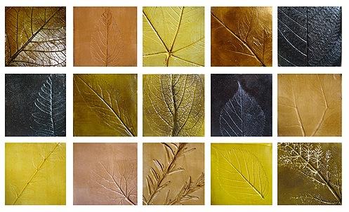 Авторская керамическая плитка - листья