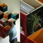 Полки для книг, которые сделал своми руками дизайнер мебели