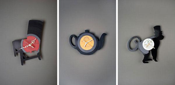 Декоративные настенные часы с фигурками