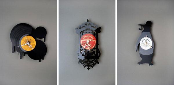 Вторая жизнь грампластинки -- настенные часы вырезанные своими руками