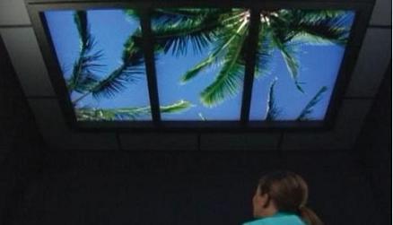 Имитация окна на потолке