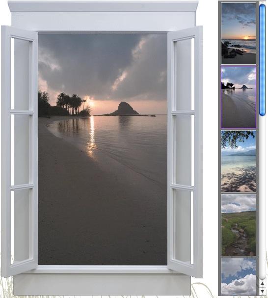 Искуственное изображение в окне