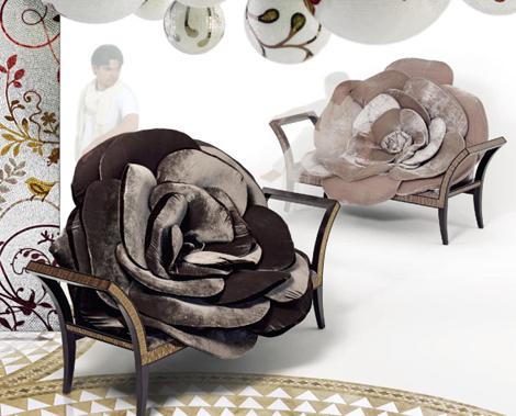 Кресло в форме розы, авторская мебель