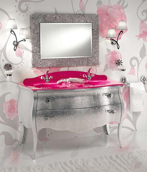 Мебель для ванной в романтическом стиле