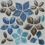 Плитка с мозаикой из цветного стекла