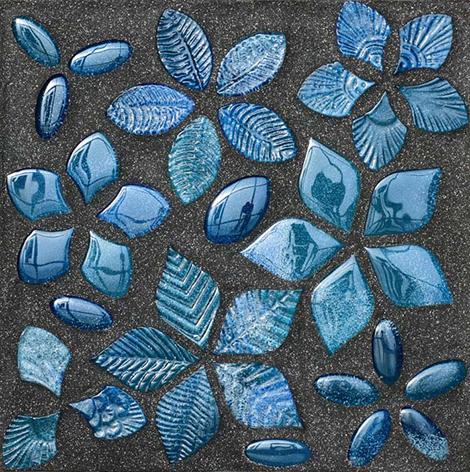 Мозаичная плитка в голубой гамме