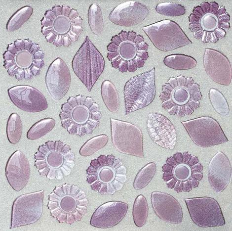 Сиреневая мозаичная плитка