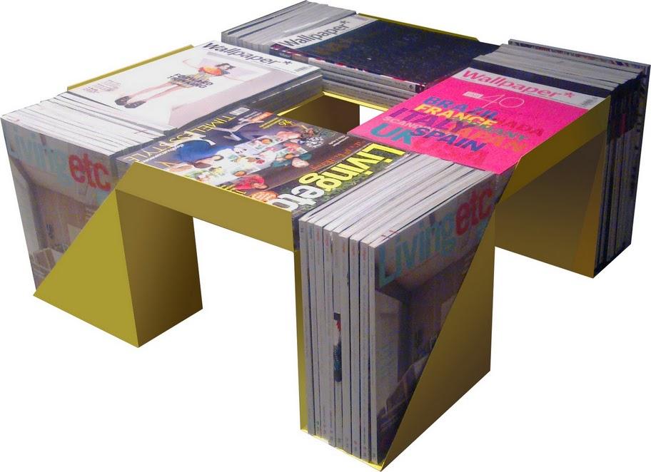 Журнальный столик своими руками из журналов 10