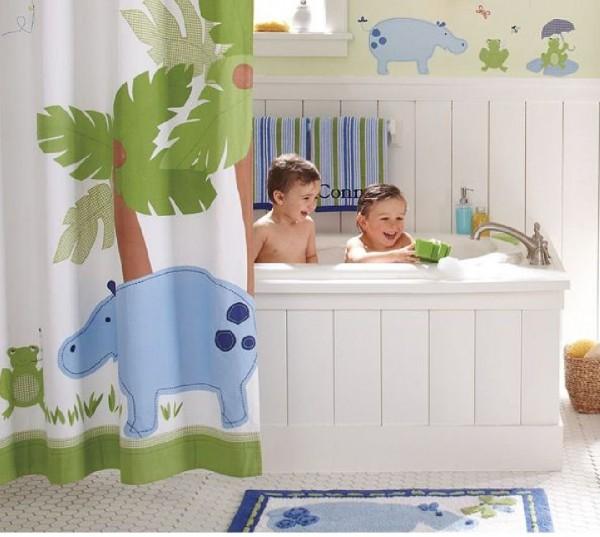 Оформление ванной комнаты для ребенка