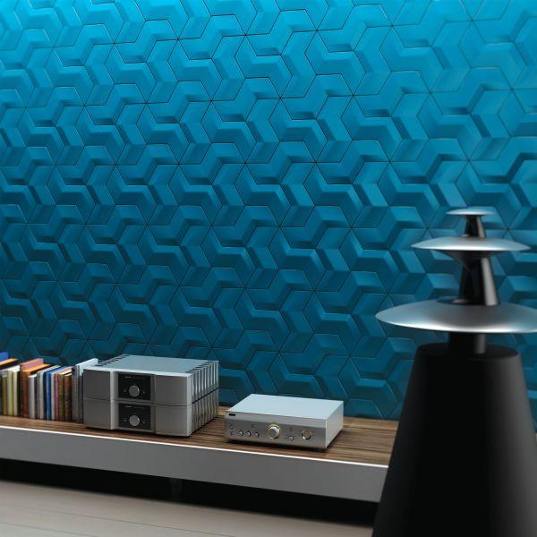 Плитка нестандартной формы бирюзового цвета