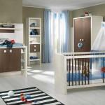 Пример просторной современной детской комнаты