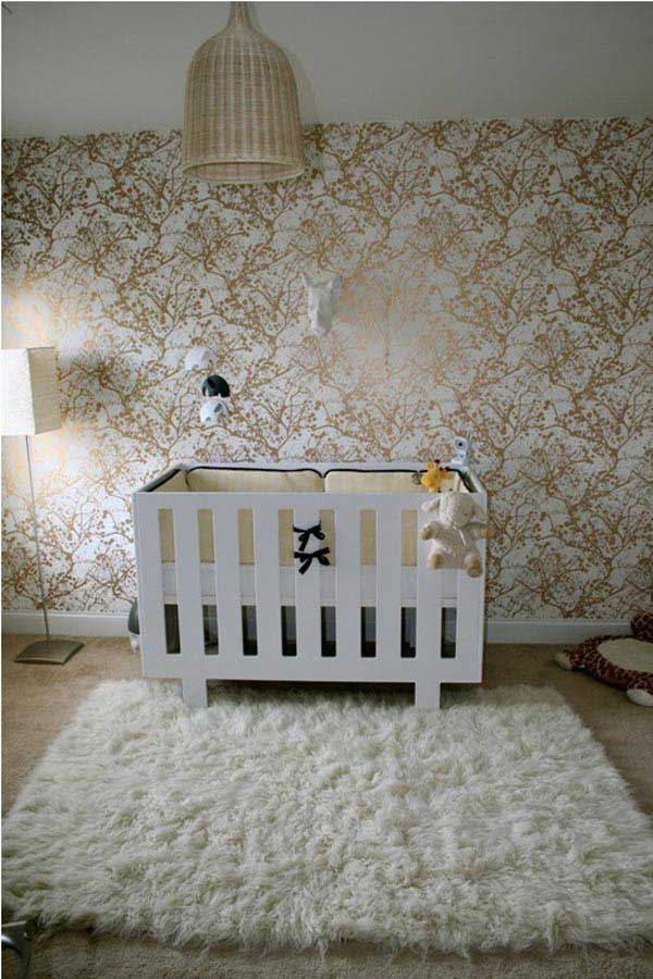 Детские обои в интерьере комнаты. Сочетание обоев для стен и мебели