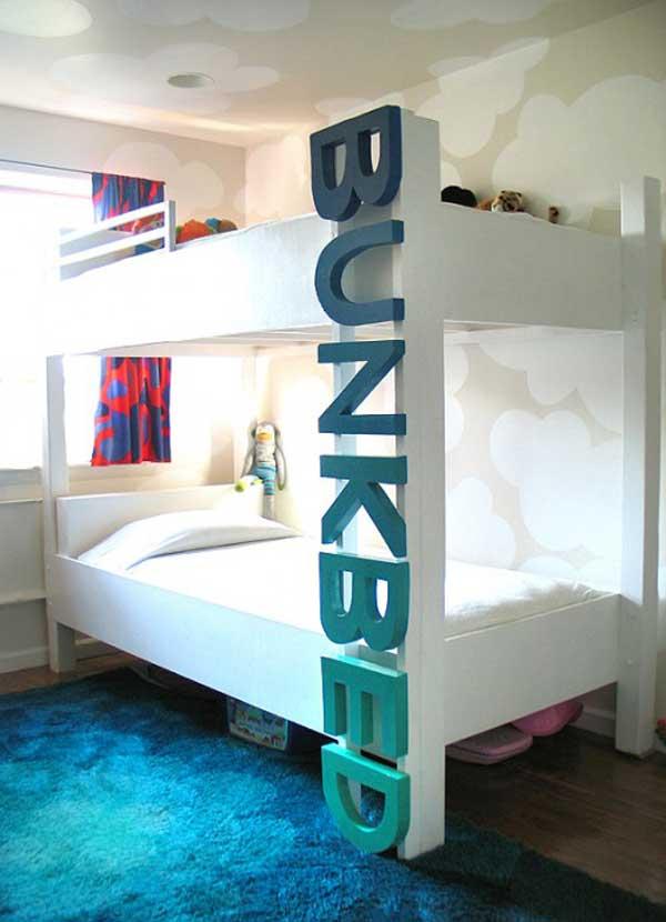 Двухъярусная современная кровать для детской комнаты