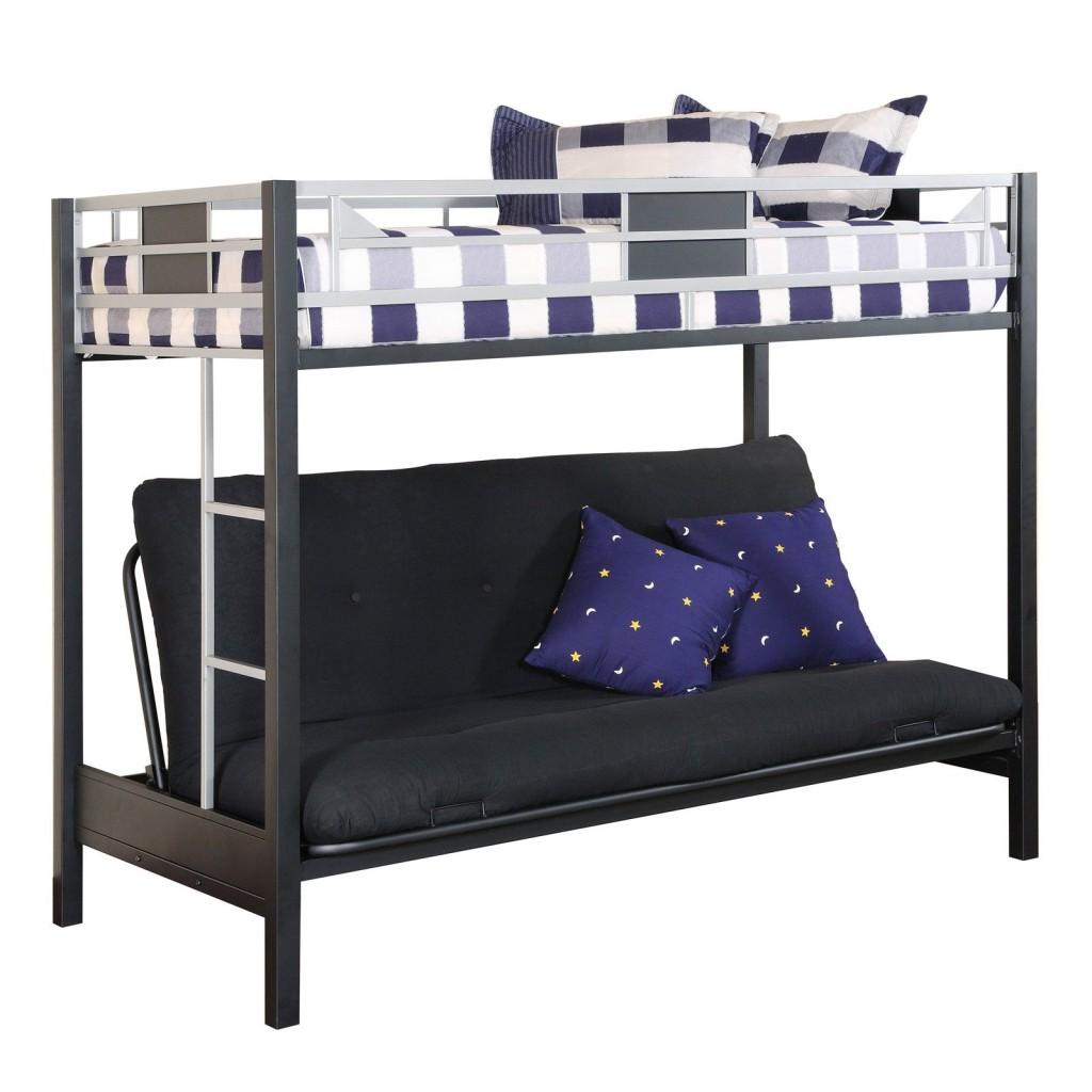 Двухъярусная кровать с раскладным диваном на первом ярусе