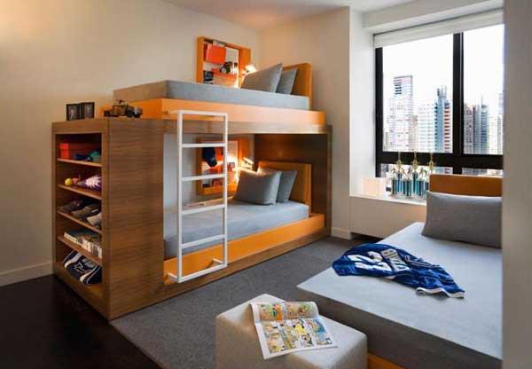 Пример мебилировки современной детской комнаты
