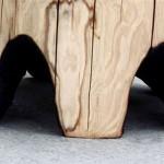 Стол из цельного ствола дерева для дачи своими руками