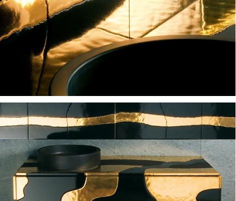 Итальянская керамическая плитка с элементами мозаики