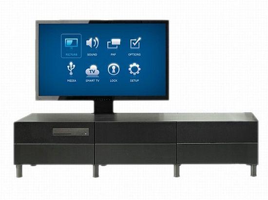 Разные варианты стенки со встроенным телевизором Икеа