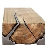 Мебель из дерева и алюминия