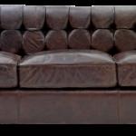 Большой диван из натуральной кожи