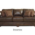 Классический мягкий кожаный диван