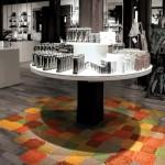 Яркие напольные покрытия в виде мозаики