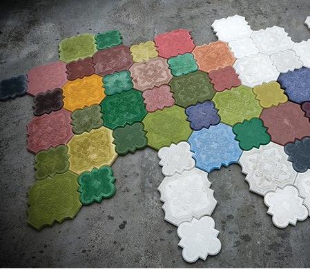 Как сделать цветной бетон своими руками 9