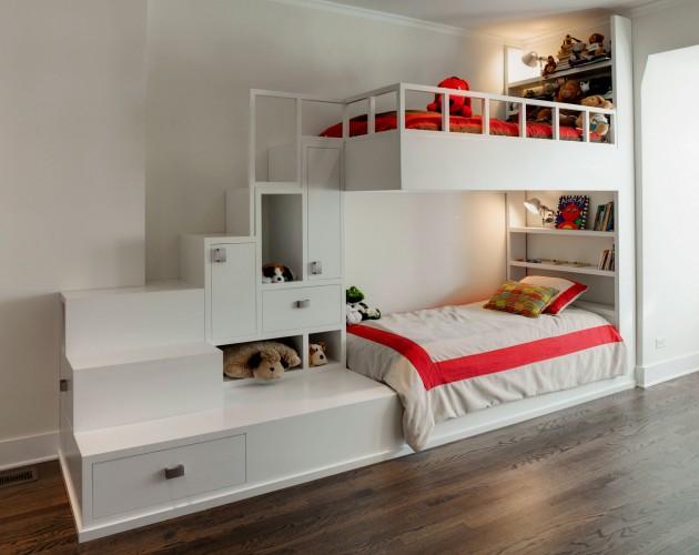Построенная на заказ детская мебель