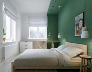 Современный дизайн интерьера спальни.