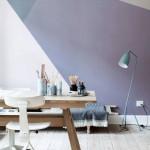 Раскраска стен яркими геометрическими узорами