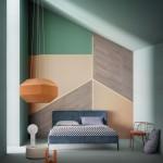 Раскраска стен в разные цвета